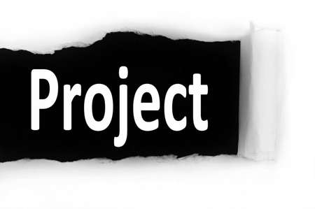 discovered: Project word discovered under paper