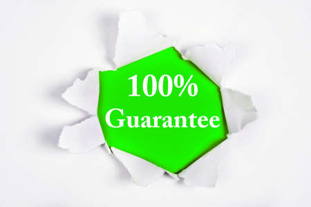 discovered: 100% Guarantee word discovered under paper