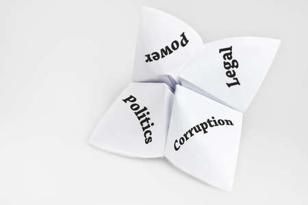 Politics on fortune teller paper photo
