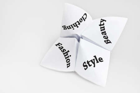 Fashion on fortune teller paper photo