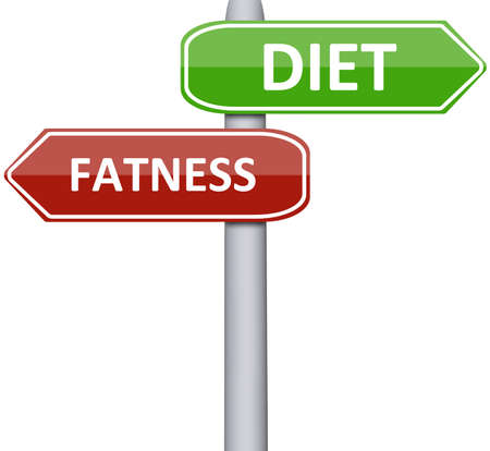 fatness: Diet and Fatness on road sign