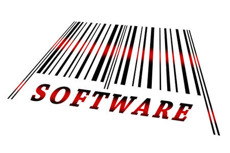 indicate: Software word on barcode scanned