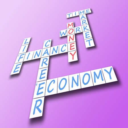 Money red word on crossword Stock Photo - 10063645