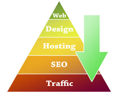 Website  graphic on pyramid illustration Stock Illustration - 10063445