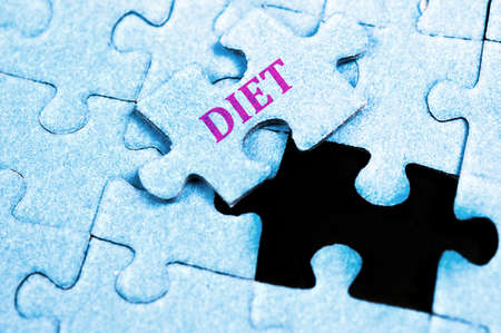 Diet piece of puzzle on top Stock Photo - 10063775