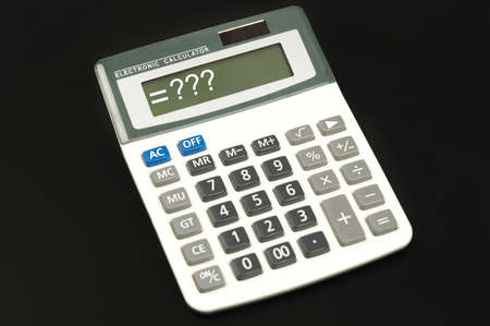 Questions sign on electronic calculator Stock Photo - 10081003