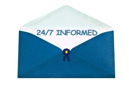 informait: Lettre 247 en connaissance de cause enveloppe bleue