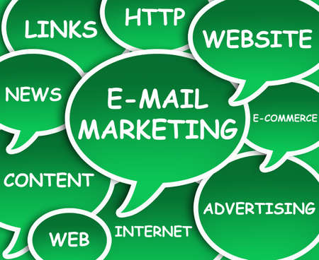 mail marketing: Illustration of clouds about E-mail marketing