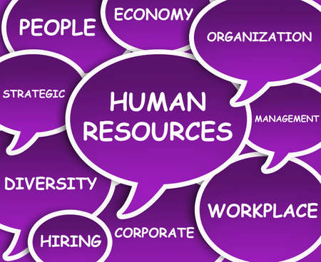 hiring: Illustration of clouds about Human Resources Stock Photo