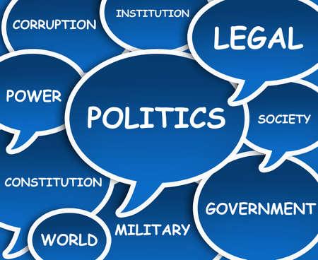 Illustration of clouds about Politics Stock Illustration - 10063724