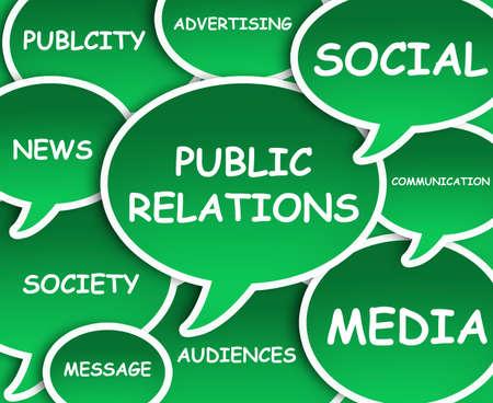 relations publiques: Illustration de nuages ??sur les relations publiques