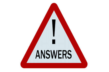 Answers sign illustration on white background illustration