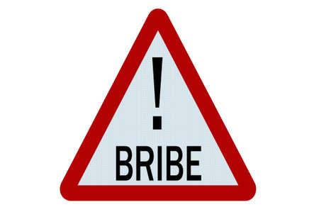 bribe: Bribe sign illustration on white background Stock Photo
