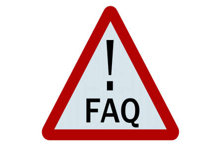 Faq sign illustration on white background illustration