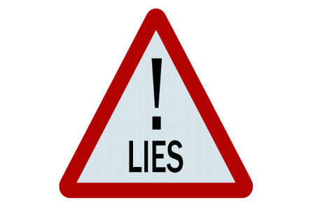 untruth: Lies sign illustration on white background