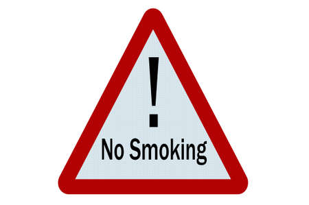 No smoking sign illustration on white background illustration