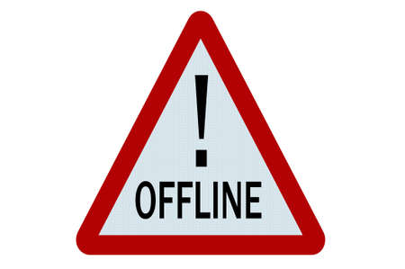 offline: Offline sign illustration on white background Stock Photo