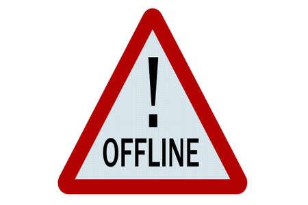 offline: Offline sign illustration on white background Stock Photo