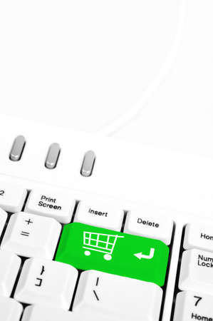 Shopping Cart in place of enter key Stock Photo - 10063434