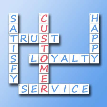 gl�cklicher kunde: Kunden red Wort Kreuzwortr�tsel