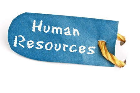 Human Resources word on isolated label Stock Photo - 11529123