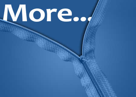 More word under blue zipper photo