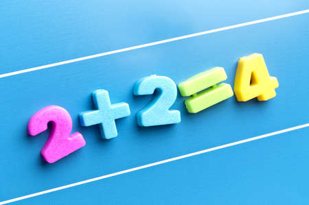 math word on blue board Stock Photo - 11529113