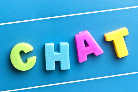 Chat word on blue board