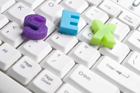 sex couple: Sex word made by colorful letters on keyboard