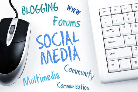 Social Media word scheme and computer keyboard photo