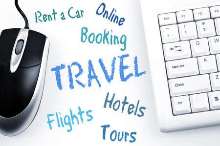 Travel word scheme and computer keyboard