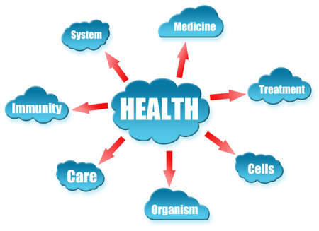 Health word on cloud scheme Stock Photo - 11615060