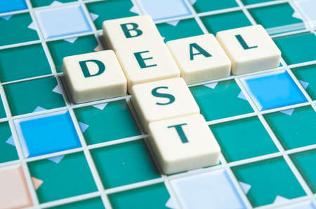 Best Deal word made by letter pieces photo