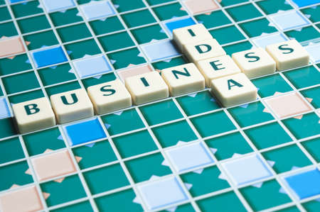 Business Idea word made by letter pieces photo