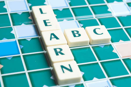 Learn word made by letter pieces Stock Photo - 11671759