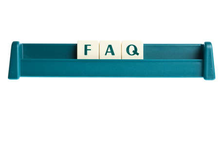Faq word on isolated letters board photo