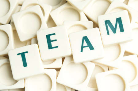 Team word made by leter pieces photo