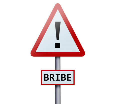 bribe: Bribe word on road sign