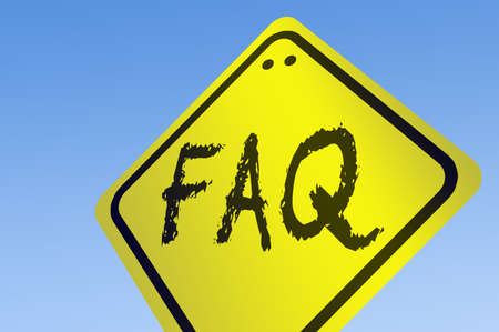 FAQ word on road sign photo