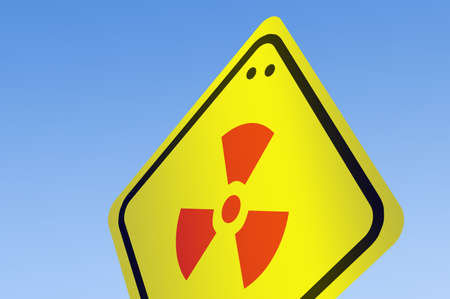 Nuke icon on road sign photo