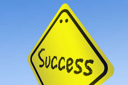 Success word on road sign Stock Photo - 11614223