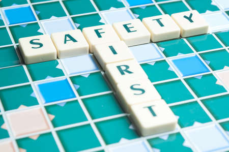 Safety word made by letter pieces Stock Photo - 11672127