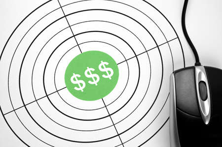 $$$  target and pc mouse Stock Photo - 11615465