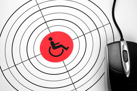 Handicap  target and pc mouse Stock Photo - 11615508