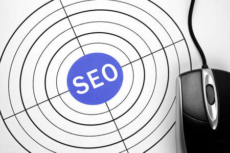 SEO  target and pc mouse Stock Photo - 11615499