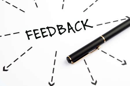 Feedback word wih arrows and pen Stock Photo - 11615294