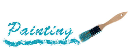 Painting word painted and brush photo