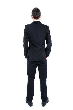 Isolé jeune homme d'affaires vue de dos