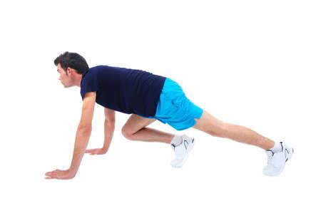 Isolierte Menschen im Sport tragen Laufen Standard-Bild - 14745482