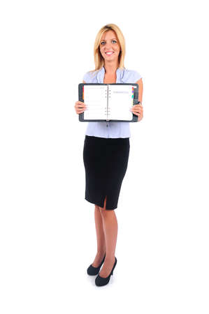 Isolated Young Business Woman Showing Stock Photo - 15349270